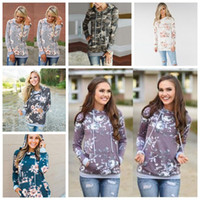 Girls Hoodies Floral Flower Sweatshirts Slim Pocket Casual L...