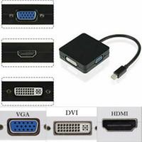 3 in 1 mini DP Thunderbolt Per HDMI VGA DVI per MacBook Air / Pro