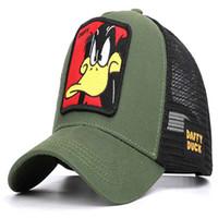 Мода-мода мультфильм аниме Baseball Cap Net Лето Открытый бейсболки TraStreet Shade Прохладный Hat Вышивка печати Cap