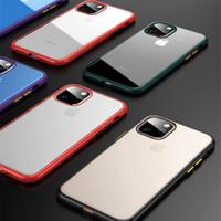 القضية واضحة وغير لامع للحصول على اي فون 11 برو ماكس، حقائب الهجين لينة TPU + PC الغلاف حماية لسامسونج S10 زائد الملاحظة 10 فون XS XR