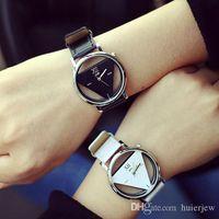 Montres de luxe quartz bracelet en cuir délicat bracelet en cuir montre femme robe montre