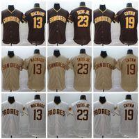 23 Fernando Tatis Jr. 2020 13 Manny Machado 19 Tony Gwynn Baseball Jersey Instock