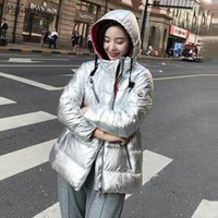 Students Cotton- padded Jacket Winter Parkas 2018 New Women H...