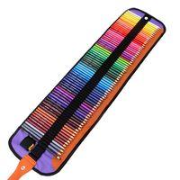 Atacado desenho da arte do lápis 72 PCS / Set Escola Lápis Com Folding caneta preta Bolsas Estudantes misturar cores Lápis Com Bolsa BH1198 TQQ