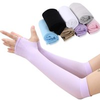 Protections solaires Manchettes pare-soleil Ice Sleeve Ice Sleeve pour femmes Sports de plein air d'été Protège-bras en soie et glace