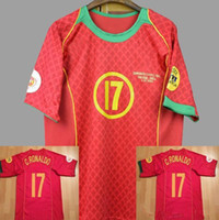 2004 PT Nationalmannschaft C.Ronaldo Figo Retro Soccer Jersey Camisas de Futebol Camiseta de Futbol Maglie Da Calcio Vintage Classic