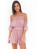 afaf4aba5bb Wholesale jumpsuit women street online - 2019 street style summer women  sexy jumpsuit dresses stripes short