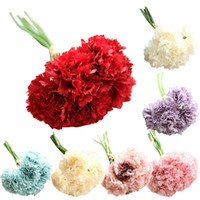 Carnation bouquet simulation fake flower mother' s day g...