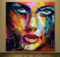 Francoise Nielly Jordon Handpainted & HD Print Abstract Graf...
