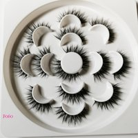 7 pairs 3D Eyelashes Hand Made Natural Long Faux Mink Lashes High Quality False Lashes Extensions Maquiagem Women  Tool
