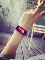 2019 New Fashion Sport LED Watches Candy Jelly men women Sil...