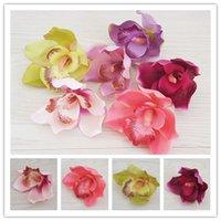100 adet 6 Renkler Yapay Phalaenopsis Flannelet Ipek Orkide Çiçek Kafaları DIY Saç Aksesuarı Bilek Korsaj Düğün Dekorasyon Festivali Sahne