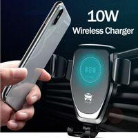 Q12 شاحن هاتف لاسلكي لـ iPhone11 11pro ماكس 8 زائد 10w شاحن سيارة لاسلكية سريعة