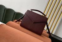 Realfine888 5A 602716 20 centímetros Cassandra Mini Top Handle Bag Grain de Poudre em relevo couro de bezerro, com o saco de poeira + Box, DHL frete grátis