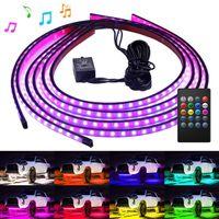 Govee Araba Underglow Işıkları, 4 Adet Led Şerit Araba Işıkları, 8 Renk Neon Accent Işıkları Şerit, Müzik Senk, kablosuz Uzaktan Kumanda