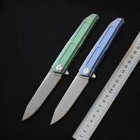 ماكر t05 12c27n بليد الطي سكين سبائك التيتانيوم مقبض بقاء سكاكين المطبخ سكين في العتاد cnc أدوات التخييم الصيد السكاكين edc