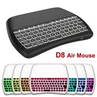 D8 2.4G Air Mouse Telecomando con Touchpad 7 colori Retroilluminazione Wireless Mini Tastiere per T95 T9 TV Box Controller Windows HPTV