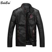 BOLUBAO New Men inverno de couro Jacket Mens moda de alta qualidade Casual cor sólida Casacos Couros Jackets Masculino