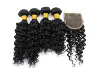 Water wave Hair Extensions 3 or 4 Bundles with 4x4 Hair Clos...