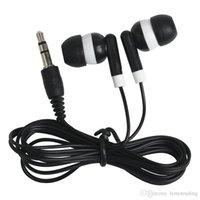 أرخص 100 قطعة / الوحدة العالمي المتاح الأسود الملونة في الأذن سماعات الأذن ل فون 4 5 6 سماعات mp3 mp4 3.5 ملليمتر الصوت dhl شحن