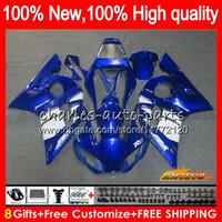 Bodys para YAMAHA YZF600 YZF600 600cc azul al rojo vivo YZFR6 YZF R6 R6 YZF 600 58HC.8 YZFR6 98 99 00 01 02 1998 1999 2000 2001 2002 carenado