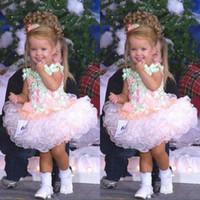 Bella Bambino Bambini Bambino Bambino Flower Girl Dress Miss America Custom Made Formza Bupcake Tutu Girl's Pageant Abiti Party Abiti per bambini