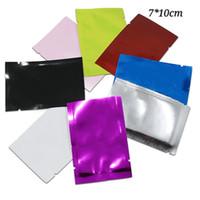 Красочные Мини Power Open Top Упаковочные Сумки Маленький Чай Упаковка Кофе Упаковка в качестве образца Pocket Package Bag Оптовая продажа 300 шт. 7 * 10см