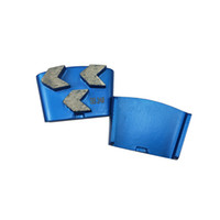 KT05 Super Sharp Алмазный инструмент Обувь EZ Изменить HTC шинковки с тремя стрелками Сегменты для бетонных полов Terrazzo 12PCS