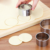 3 teile / satz Edelstahl Runde Knödel Wrapper Formen Set Cutter Maker Tools Runde Cookie Gebäck Wrapper Teig Schneidwerkzeug Freies Verschiffen
