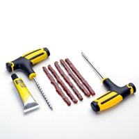 5pcs 자동차 튜브 타이어 수리 도구 키트 키트 자전거 타이어 드릴 액세서리 세트 - 옐로우 + 블랙