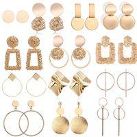 Dichiarazione coreano di tendenza moda elegante metallo Orecchino ad anello Donna 2019 nuova annata di colore dell'oro poco costoso orecchini di goccia Accessori Brincos