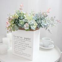 Ev Otel Düğün Dekorasyon için kullanılır 40cm Yapay Bitkiler Plastik Okaliptüs Yapraklar Saksı Sanat Çiçek Düzenleme Malzemesi