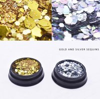 Mee_You Nail Jewelry Super Sparkle Lentejuelas combinadas de brillo mágico de brillo mixto grueso y fino DIY Decoración de uñas MY0008