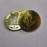 Sereniteit gebed bidden handen uitdaging militaire munten religieuze munt nieuwe groothandel DHL gratis verzending