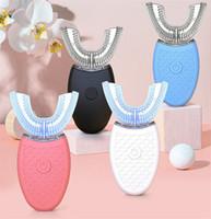 360 درجة نانو فرشاة الأسنان الكهربائية الضوء الأزرق بالكامل الأوتوماتيكية الموجات فوق الصوتية موجة للماء u نوع فرشاة الأسنان USB شحن العناية الشخصية