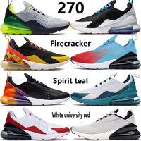 Nuove scarpe da corsa 270s uomo donna Seattle Away spirit teal petardo triple nero bianco allevato be true oil grey red mens sneakers