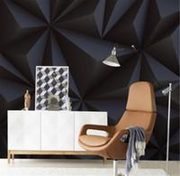 أسود صور الخلفيات لجدران 3D مجسمة قماش الحرير جداريات 4D حديث تجريدي جدار بابيس لغرفة المعيشة ديكور الرسم