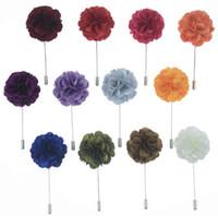 Нагрудные Fower камелии Handmade бутоньерка палке Брошь Pin Мужские аксессуары 18 цветов Кнопка Придерживайтесь Fower броши для свадебного подарка партии