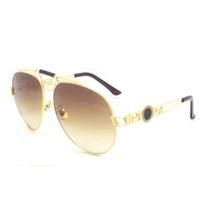 Wholesale grande quadro metal óculos de sol cinco cor de alta qualidade