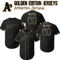 Oakland Custom Athletics Jerseys Edición Golden Matt Chapman Jersey Marcus Semien Khris Davis Josh Phegley Rickey Henderson Hunter Brooks