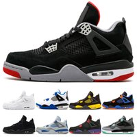 Designer 4 men basketball shoes 4s Bred White Cement Pure Mo...