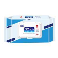Sterilizza la carta bagnata 60pcs / confezione Disinfezione Portatile 75% Tamponi da tamponi da 75% Pastiglie salviette AntiSettico detergente detergente per la pulizia Prep Pad FS9515