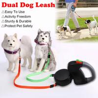 3M Katlanabilir Çift Kişilik Pet Tasmalar Halat Sıfır Arapsaçı Yürüyüşü 50Lbs Başına İçin İki Köpek 1PC