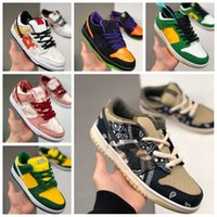 Neue SB Dunk Low Pro Travis Scott Safari Strangelove White Black Rosa Mens Skate Schuhe Sneakers Trainer Sport Dunks Damen Schuhe Größe 11