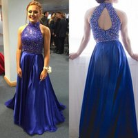 Two pieces Prom Dresses Beaded Sleeveless A- Line Formal Even...