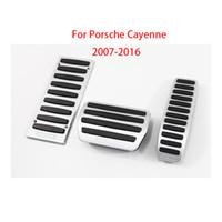 Pour Porsche Cayenne 2007-16 Couverture pédale Couvercle de carburant Frein Frein De Frein Dépôt de repose sans forage Cylisme de voiture