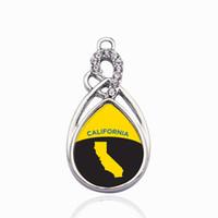 كاليفورنيا مخطط دائرة سحر خمر القلب سحر المعلقات الأزياء سحر قلادة للنساء الرجال diy مجوهرات