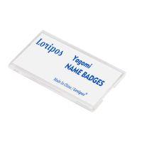 دبوس على الاكريليك حامل لبطاقة الهوية، تحديد اسم اللوحة بطاقة رقم بطاقة السلامة دبابيس البلاستيك اسم المؤتمر شارة دبوس على حامل