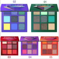 2020 Marke CmaaDu NEW 9 Farben-Diamant-Licht Lidschatten-Palette Helle Pressed Powder Metall Matte Eye Shadow Brand Beauty Versand