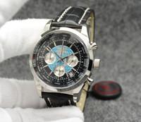 야외 Transocean 남자 좋아하는 시계 44mm 쿼츠 크로노 그래프 망 날짜 시계 WRTISTWATCHES 검은 색 다이얼 블랙 고무 밴드